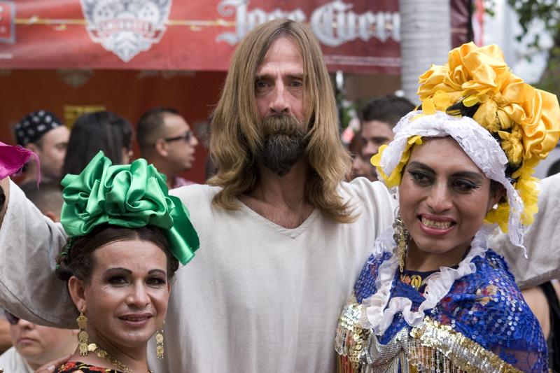 Jesus at Gay Pride Parade © Paula L. Combs